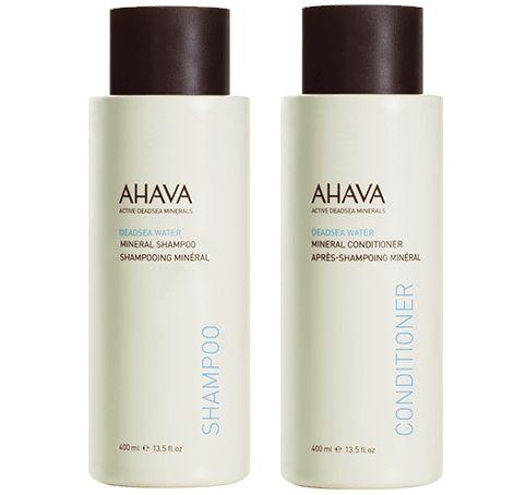 Image of Ahava Minerální vlasová sada - šampon na vlasy 400 ml + kondicionér 400 ml
